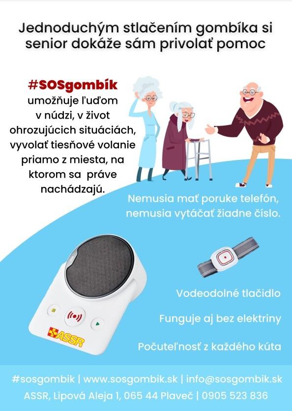 Asociácia samaritánov a domáce tiesňové volanie SOS gombík