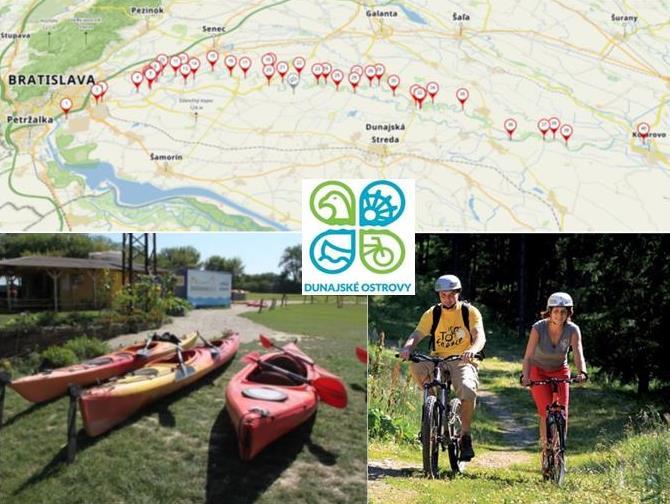 Dunajské ostrovy: Prechádzky, cykloturistika, riečne splavy, ekoturizmus